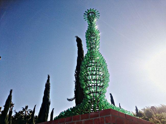 "Joana Vasconcelos sculpture ""Nectar"" Sculpture Contemporary Art Joana Vasconcelos Nectar Glass Art Garden Glass Bottle Oriental Garden Buddha Eden Bombarral Portugal Eyeemphoto"