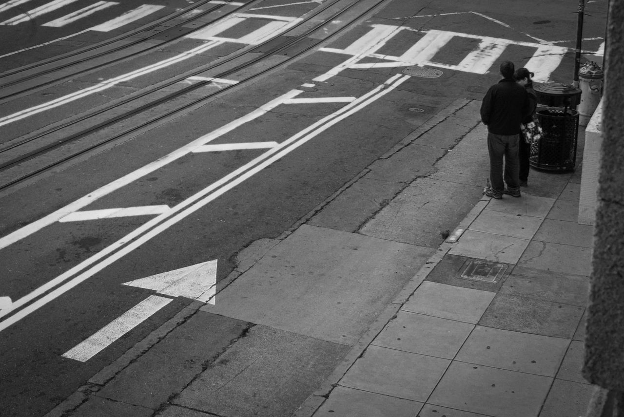 Arrow Symbol Black And White Collection  Black And White Photography Cable Car Tracks Chinatown City Life Outdoors San Francisco Street Photography The Way Forward Feel The Journey