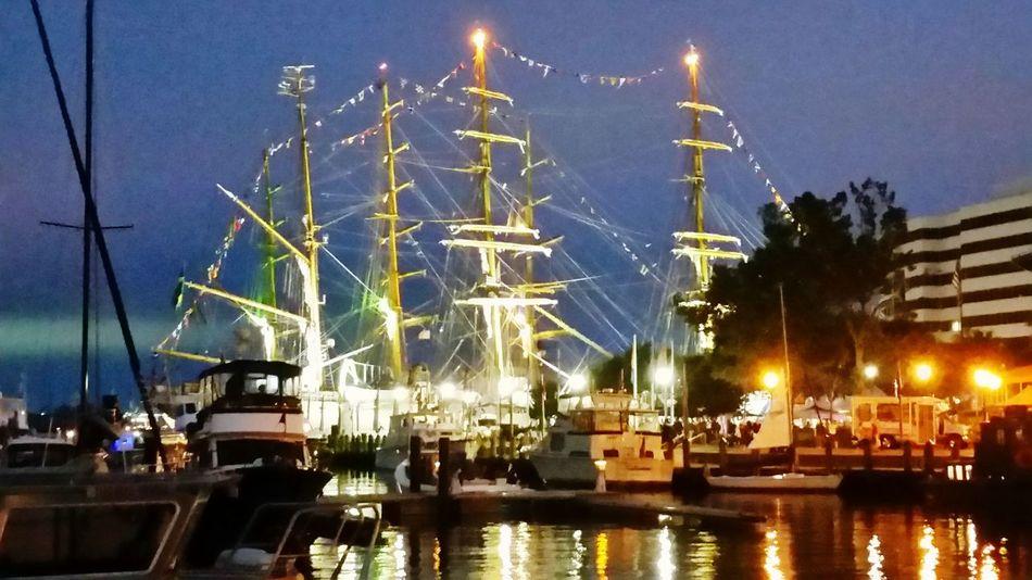 Harbor Fest Sailboats Sunset