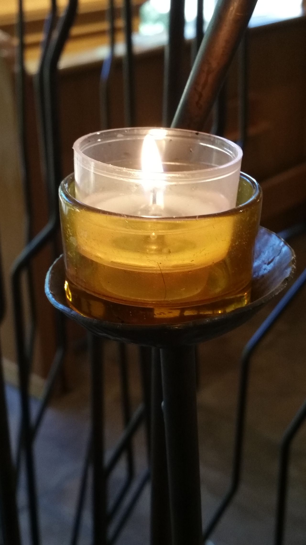 Have a blessed Sunday everyone. 💛 Indoors  Heat - Temperature Close-up Flame Burning Tea Light Day Church Nofilternoedit Popular Photos Colorful