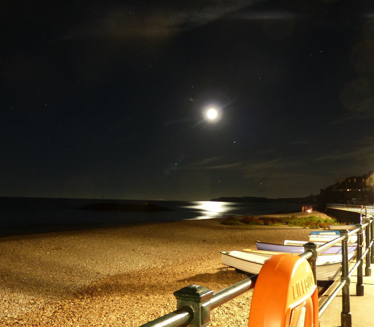 night, water, nature, illuminated, sea, moon, beauty in nature, sky, tranquility, beach, scenics, tranquil scene, outdoors, sand, no people, horizon over water, star - space, astronomy