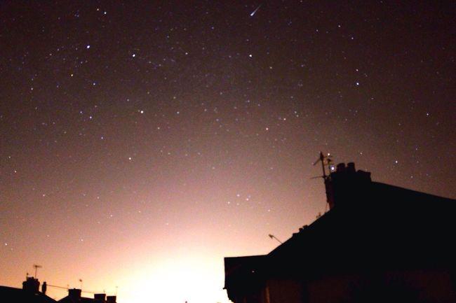 Starry Night House Roof Morning Sunlight