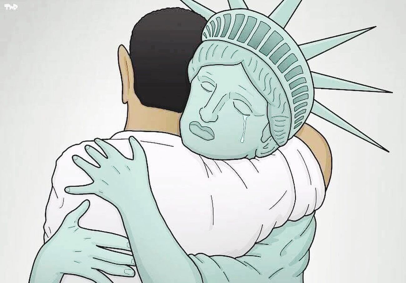 No comment... Obama Statue Of Liberty USA Goodbymrpresident