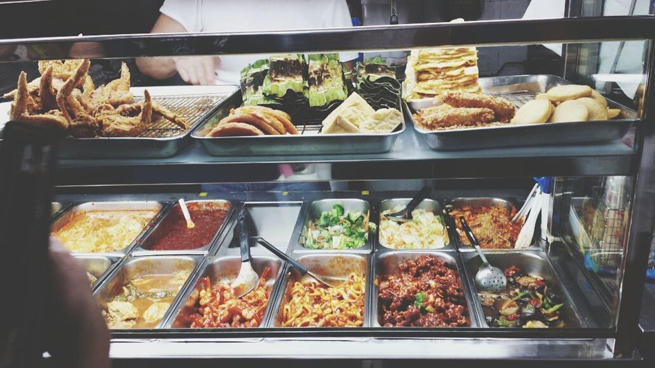 Look at the varieties of sides they serve! Feast Hungry Yummy Eating