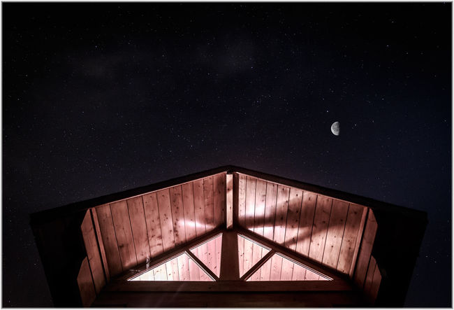Aerospace Industry Architecture Astrology Sign Astronomy Built Structure Cabin Cabin In The Woods Constellation Galaxy Long Exposure Low Angle View Milky Way Moon Nature Night No People Outdoors Scenics Science Sky Space Star - Space Star Field
