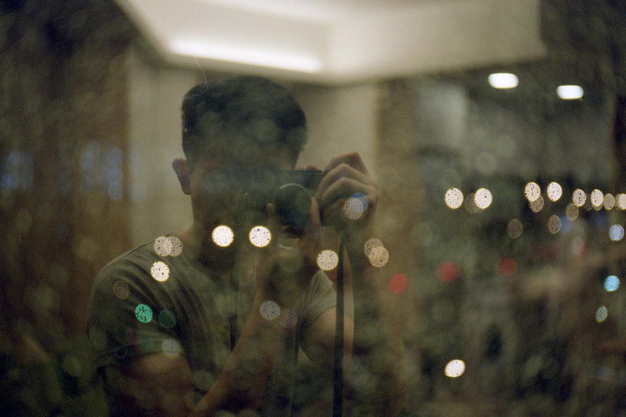 Backgrounds Bokeh Dark Enjoying Life Eye4photography  EyeEm EyeEm Best Shots EyeEm Gallery Film Film Photography Filmisnotdead Glowing Illuminated Leica Light M6 Portrait Pro400 Selfie Summicron