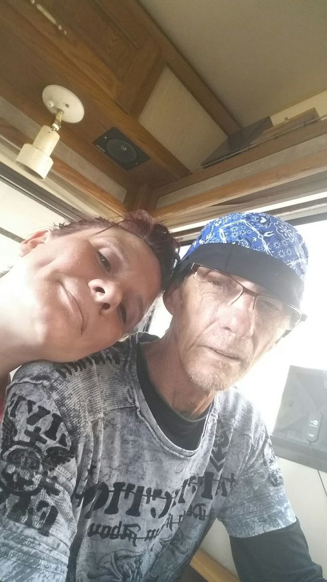 This is a Picture of Me and my Daddy. He is currently Fighting Lung Cancer and we don't know how much Time he has left...... he doesn't want to know. He just wants to live what he has left without stressing about it coming up. He says he knows he's Dying even with treatment and that breaks my Heart. Its really Not Fair  because he quit Smoking 6 years ago so he wouldn't get this and I see 70 n 80 year old people smoking away n they're healthy as a horse. Fuckers. I love you daddy......