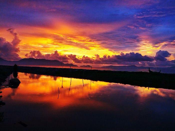 Amazing Sunset Sky Clouds Beach Nature Wonderful Panorama Perfect Landscape