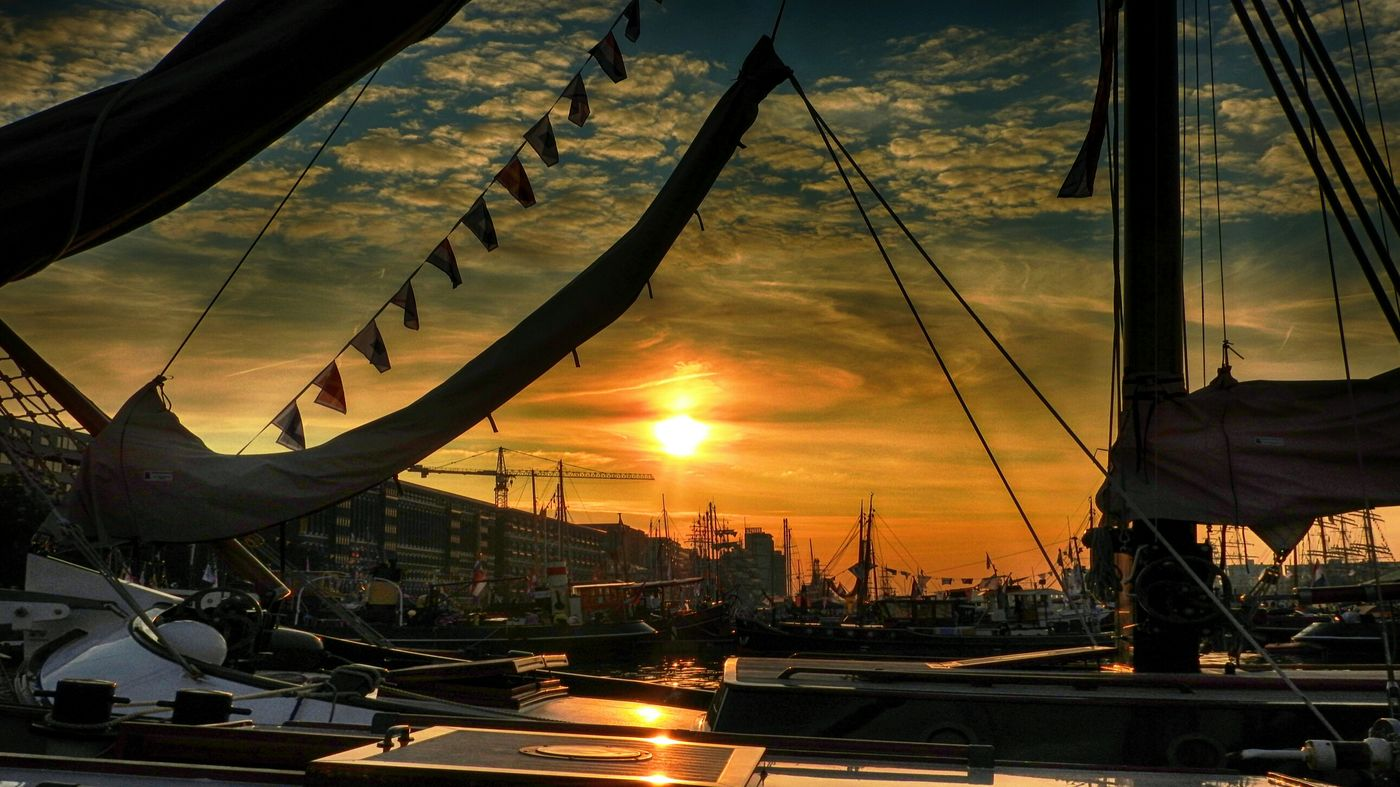 Sail Amsterdam 2015 Sail2015 Sunlight Sunset_collection Sunset Silhouettes Light And Shadow Eye4photography  Cityscapes Water_collection On A Boat
