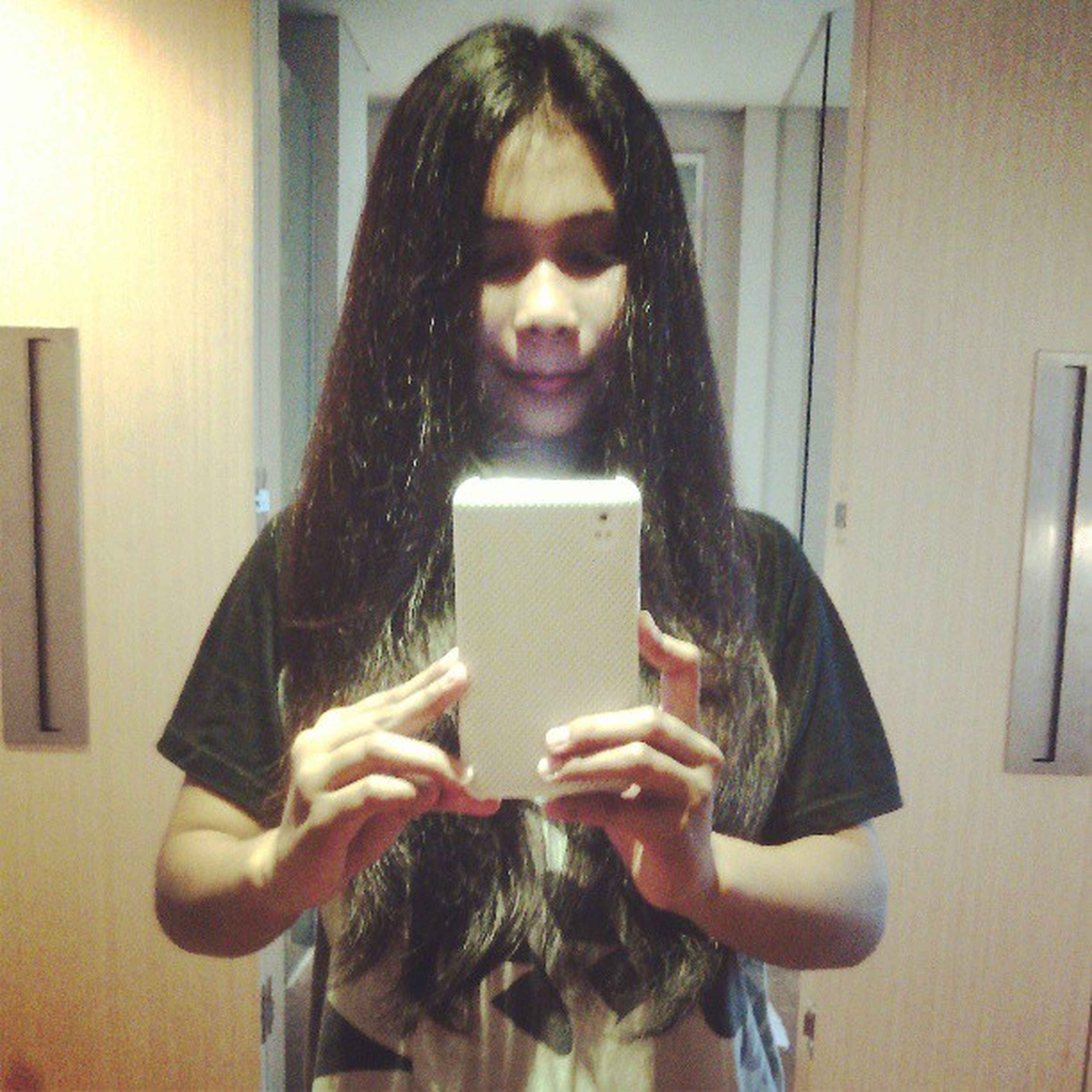 Got bored, nothing to do :/ just want to show off ma longhair<3 Longhair Straighthaired Blackhaired