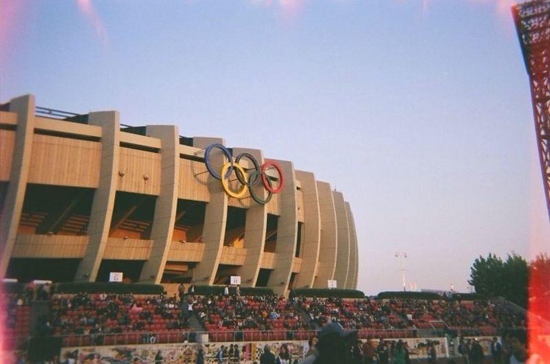 Olympic Stadium in Korea Film Filmcamera Seoul
