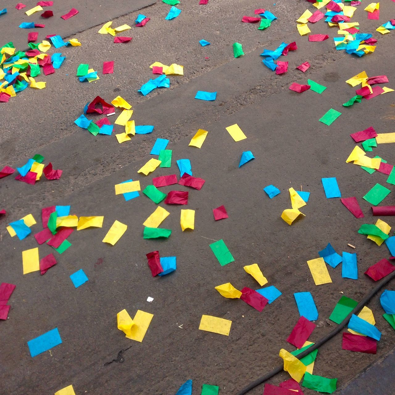 Afternoon Carnival Celebration Close-up Confetti Day De Happiness Happy High Angle View Jolly Large Group Of Objects Marriage  Multi Colored No People Outdoors Pavement Primary Colors Road Street Wedding Yellow