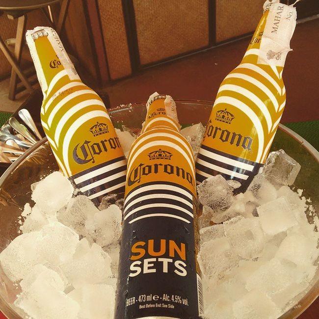 Corona Sunsuet NewAddition Newaddiction Summerdrink Afternoonsipper MELLOWER Smooth Beerlove Beerbond Instahappiness Instaupload Instalike Instaclick Instamoodlifter @tajlandsend @tropics