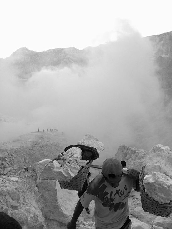 Blackandwhite Black And White Black & White Blackandwhite Photography Black&white Black And White Photography Work Worker Sulfur  Sulfur Miners Kawah Ijen Sulfur Gas Sulfur Rock Workers Workers At Work Hardwork Courage Working Working Hard Mine Miner Java INDONESIA People And Places Monochrome Photography Resist Break The Mold