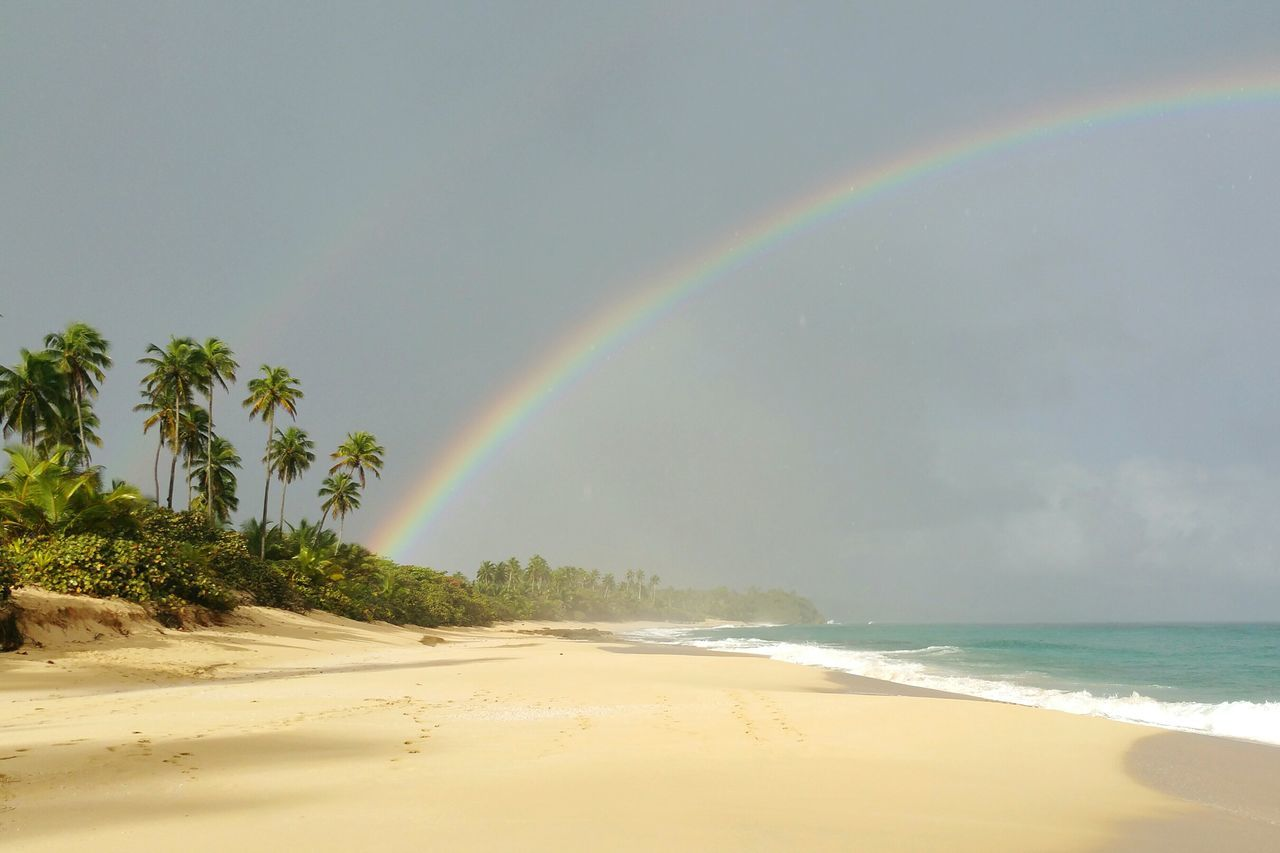 Beautiful stock photos of rainbow, Beach, Beauty In Nature, Cloud - Sky, Day