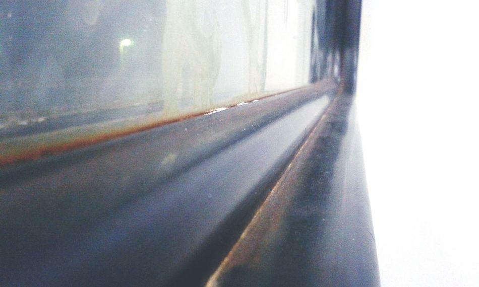 Rzd Evening Black White Window Dirt Dirty Window Rubber Rust Train