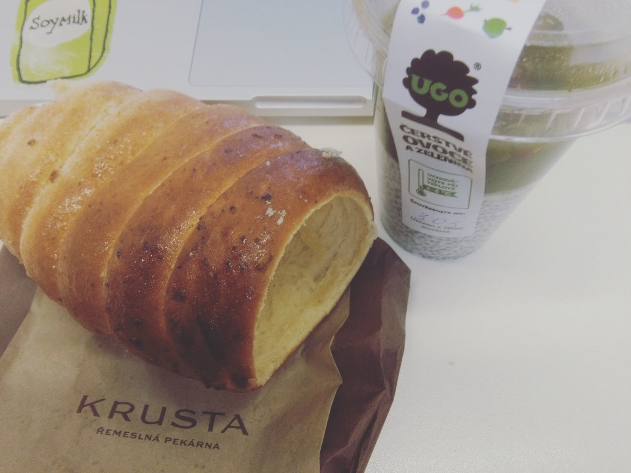 Bakerykrusta Chia Seed Chia Seeds Chiaseed Pudding Chiaseed Puddings Close-up Communication Czech Snack Czech Sweets Czechsweets Day Food Food And Drink Freshness Indoors  Krusta Bakery Krusta Pra Label No People Ready-to-eat Text Trdelnik Ugo Western Script