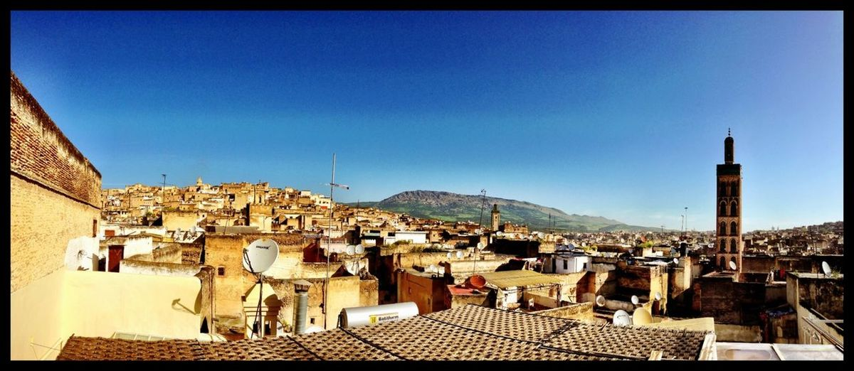 Morning View Rooftops Panoramic Skyporn Fes Morocco Amazing View