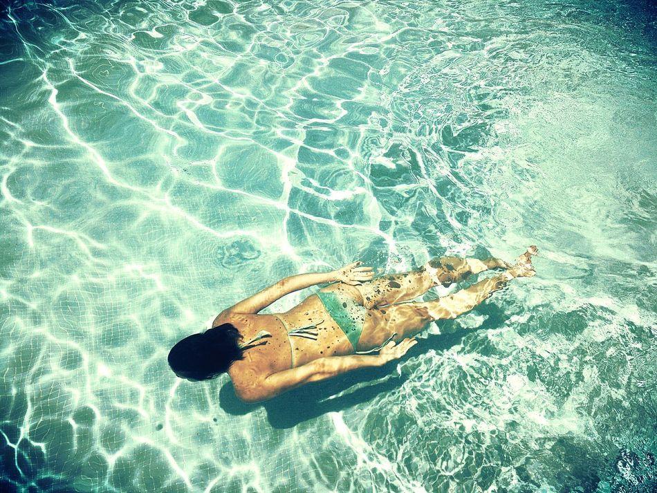 Beautiful stock photos of bikini, 35-39 Years, Blue, Day, Elevated View