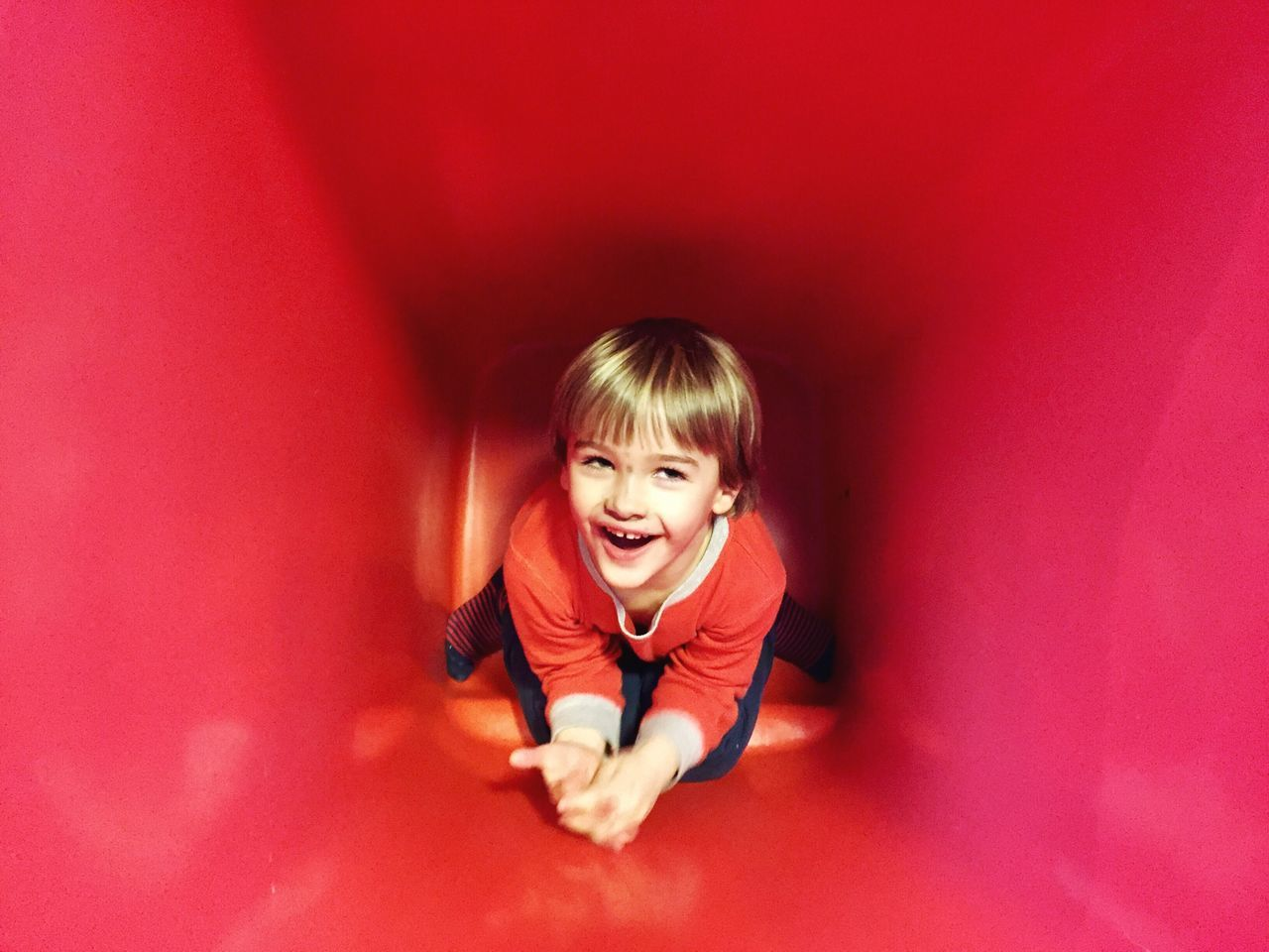 Childhood Red Child One Person Front View Smiling Looking At Camera Children Only Real People Indoors  Portrait Happiness Boy
