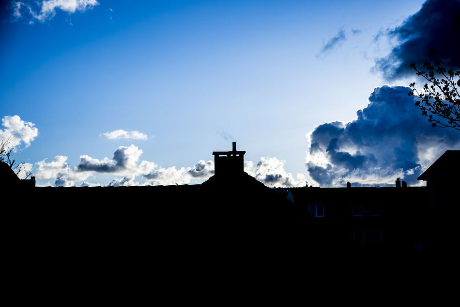 Architecture Bird Building Exterior City Clear Sky Cloud - Sky Clouds And Sky Cloudscape Day No People Outdoors Roof Rooftop Silhouette Sky Sky And Clouds Skyporn Sunset Sylt, Germany