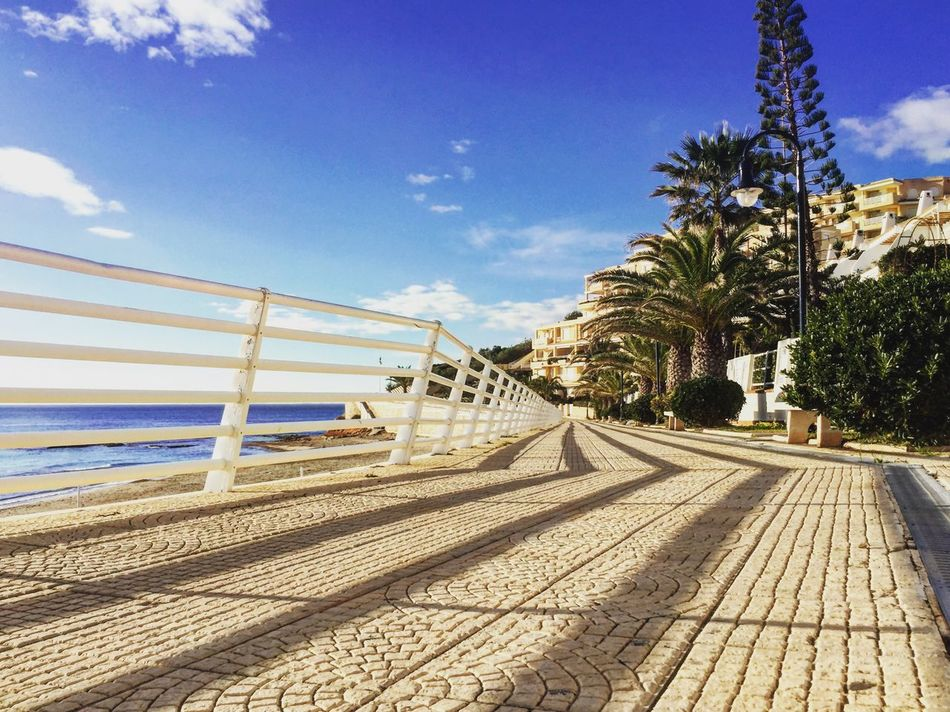 Nice quiet Walk along the Spanish Costal Footpath towards San Javier & La Manga...Cartagena.. on a Sunny☀ Morning in late January Strips Stripes Lunes Barrier Sea Sky Sky And Clouds