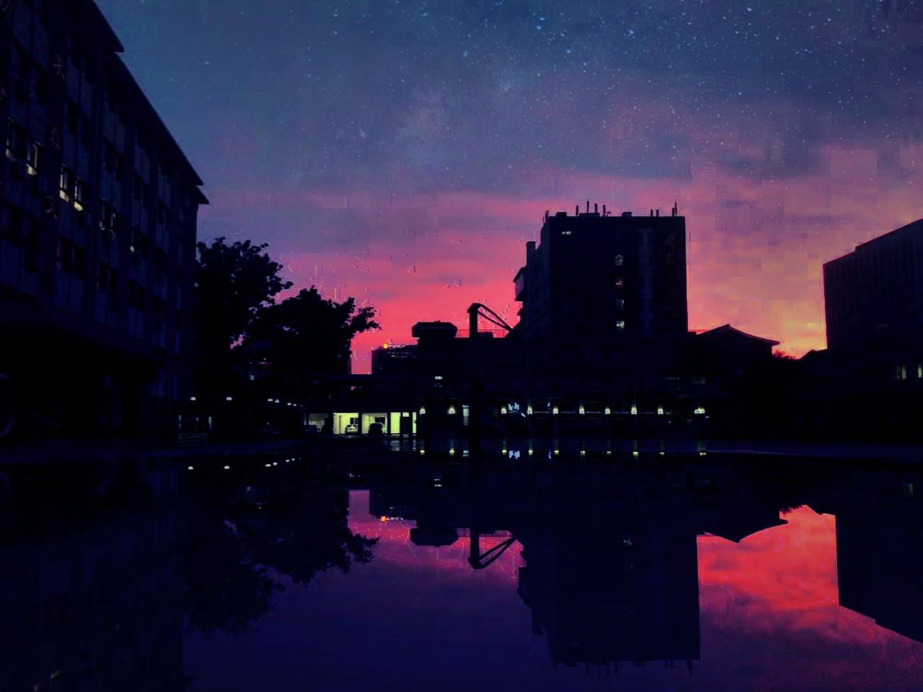 First Eyeem Photo Night Astronomy Sky Star - Space Water Sunset Awe Architecture Outdoors Constellation Illuminated No People Space Nature Galaxy EyeEmNewHere