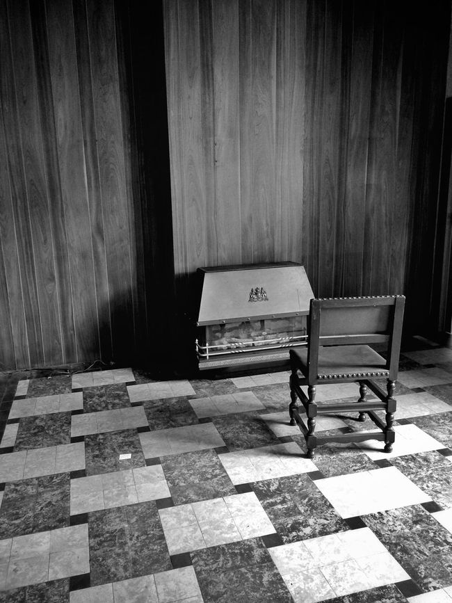 Blackandwhite Old House Creepy Living Room Past Memories Empty Empty Room Chair Patterns Wood Architectural Encounters