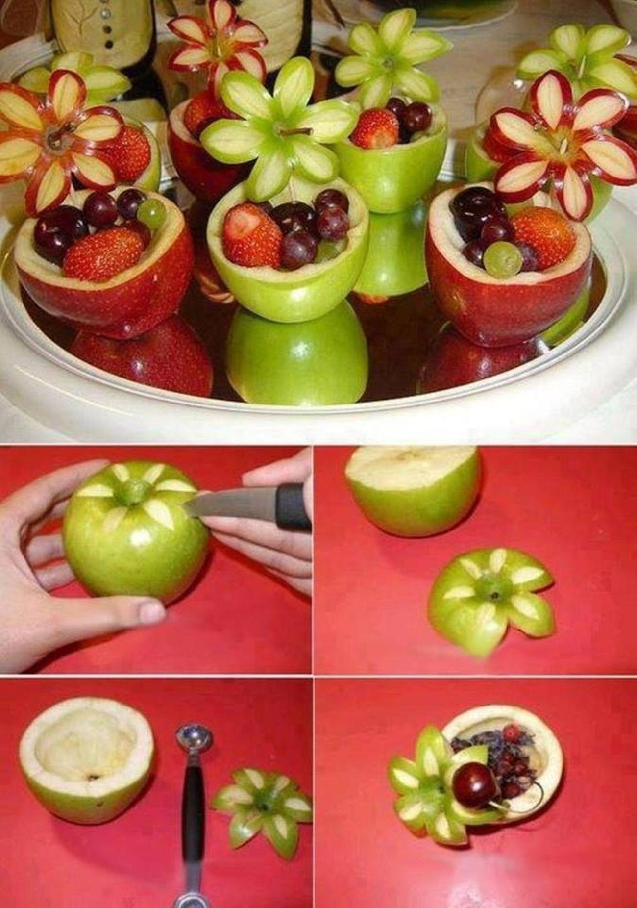 Fruit Frutas Manzanas cortadas originalmente !!! Que bonito queda !! Me gusto la foto y la robe😄😜👌 Taking Photos