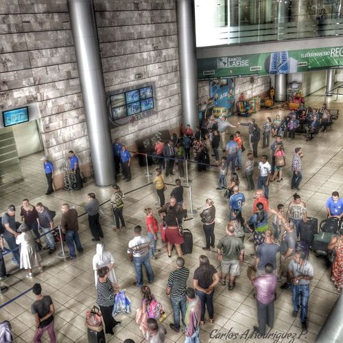 Under Pressure Airport People Photography Waiting HDR