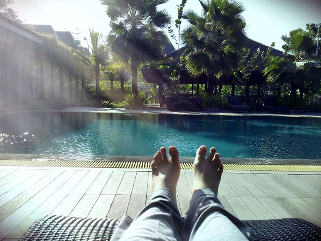 Two Is Better Than One Repost Lifestyles Sunny Poolside Barefoot Eye For Photography Sunlight And Shadows My Feet Happy People Enjoying Life