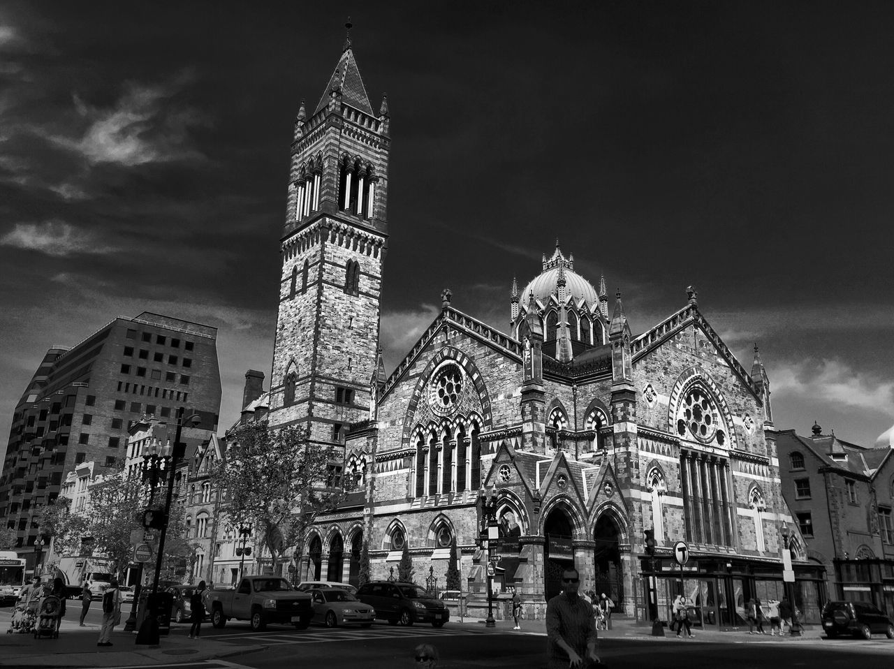 Feel The Journey Old South Church VividHDR Black And White Boston