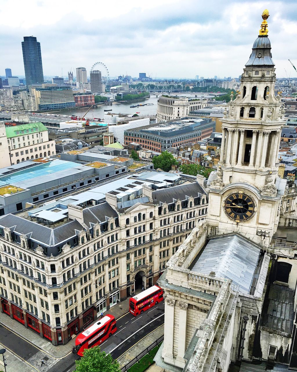 architecture, building exterior, built structure, city, high angle view, travel destinations, sky, outdoors, day, cityscape, clock tower, no people
