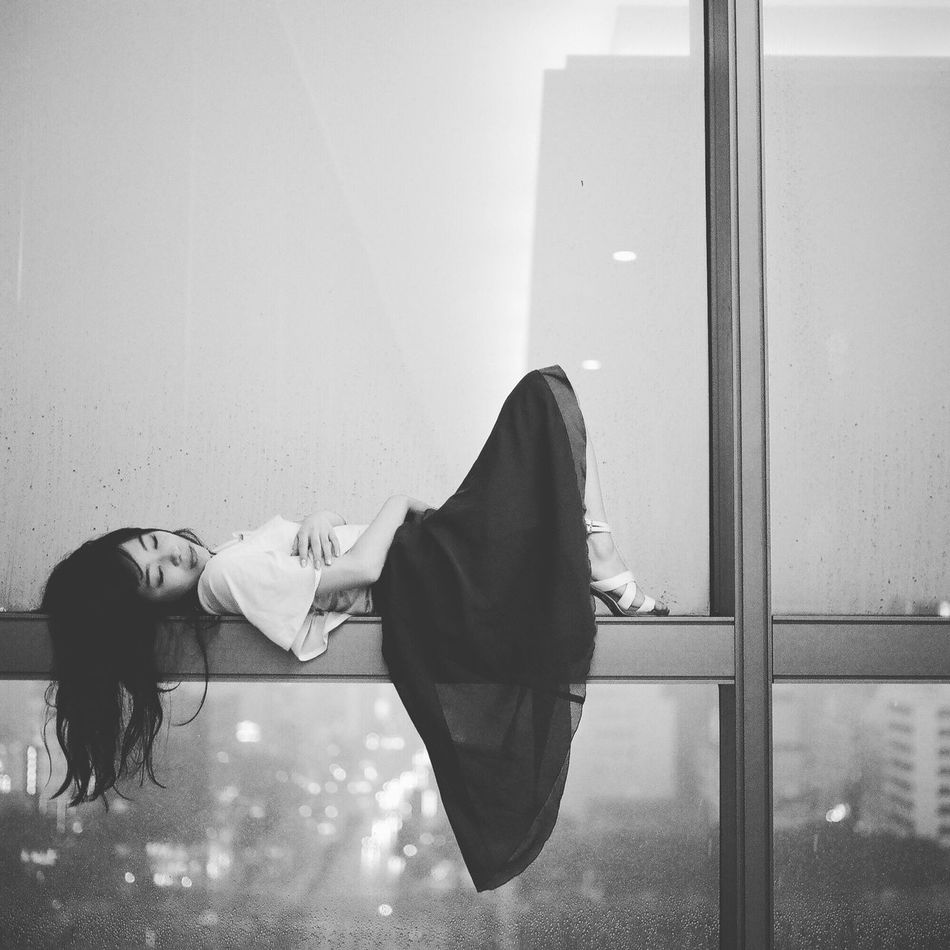 Enjoying Life Getting Inspired Light And Shadow Japan Haraism Film Portrait Black And White