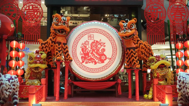 Chinese new year decorations at a mall in Penang. Malaysian Culture Religion And Tradition Cny2016 Retailstore