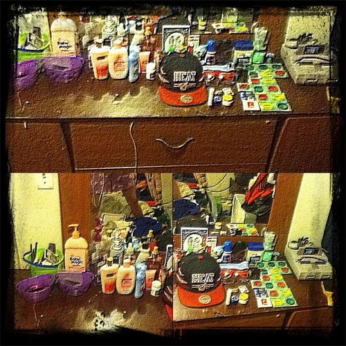 Peep How My Dresser Has A Guy Side With Condoms Had Colone All That An The Girl Side Has Girlu Stuff
