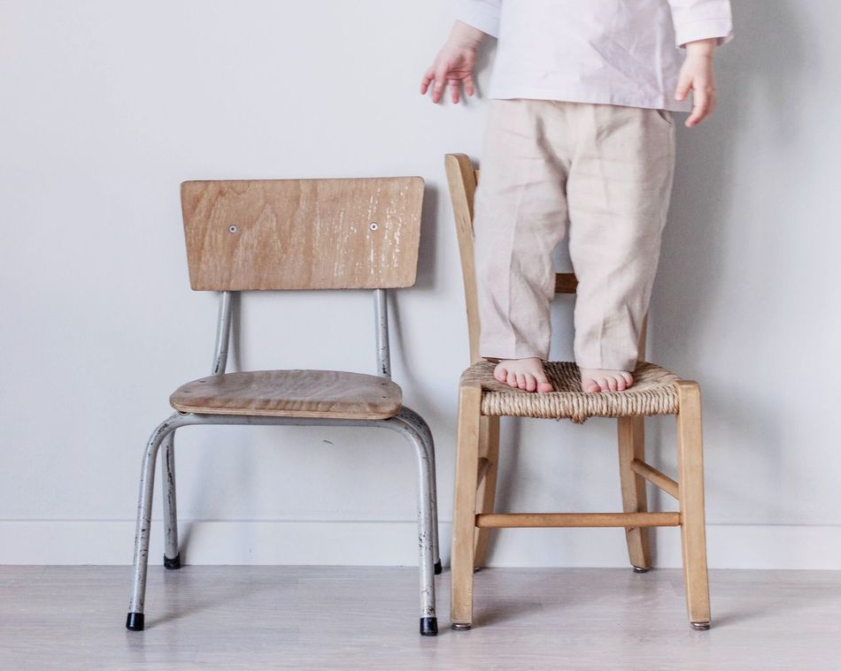 Beautiful stock photos of school, low section, chair, human leg, one person