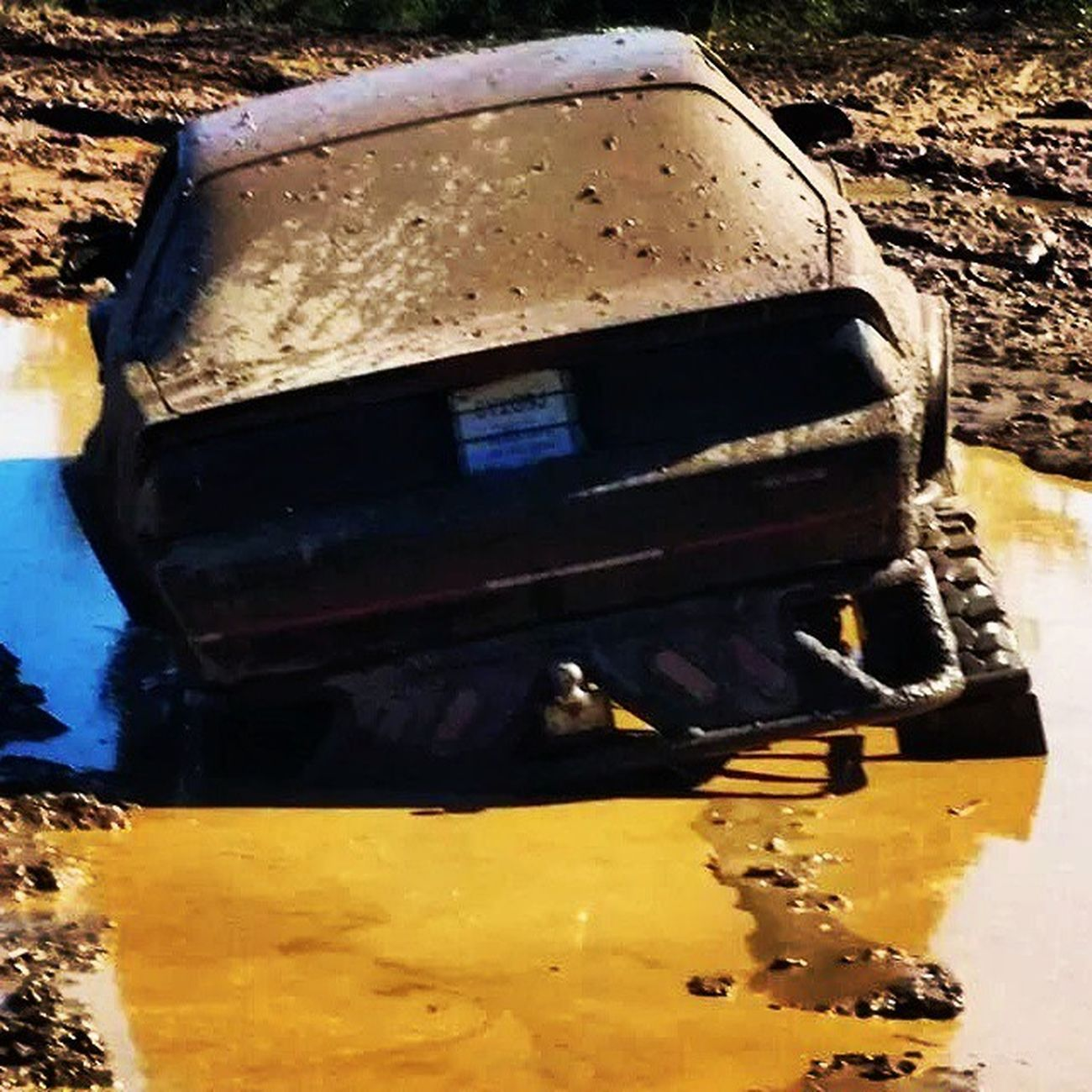 Another favorite at Stave Lake! The Jacked up Iroc! Stavelake Mudding Mud Mudbogging mountain sand lake puddles jackedup offroad 4wheel 4x4 getdirtyorgohome thisisthelife winch iroc @4wdtv