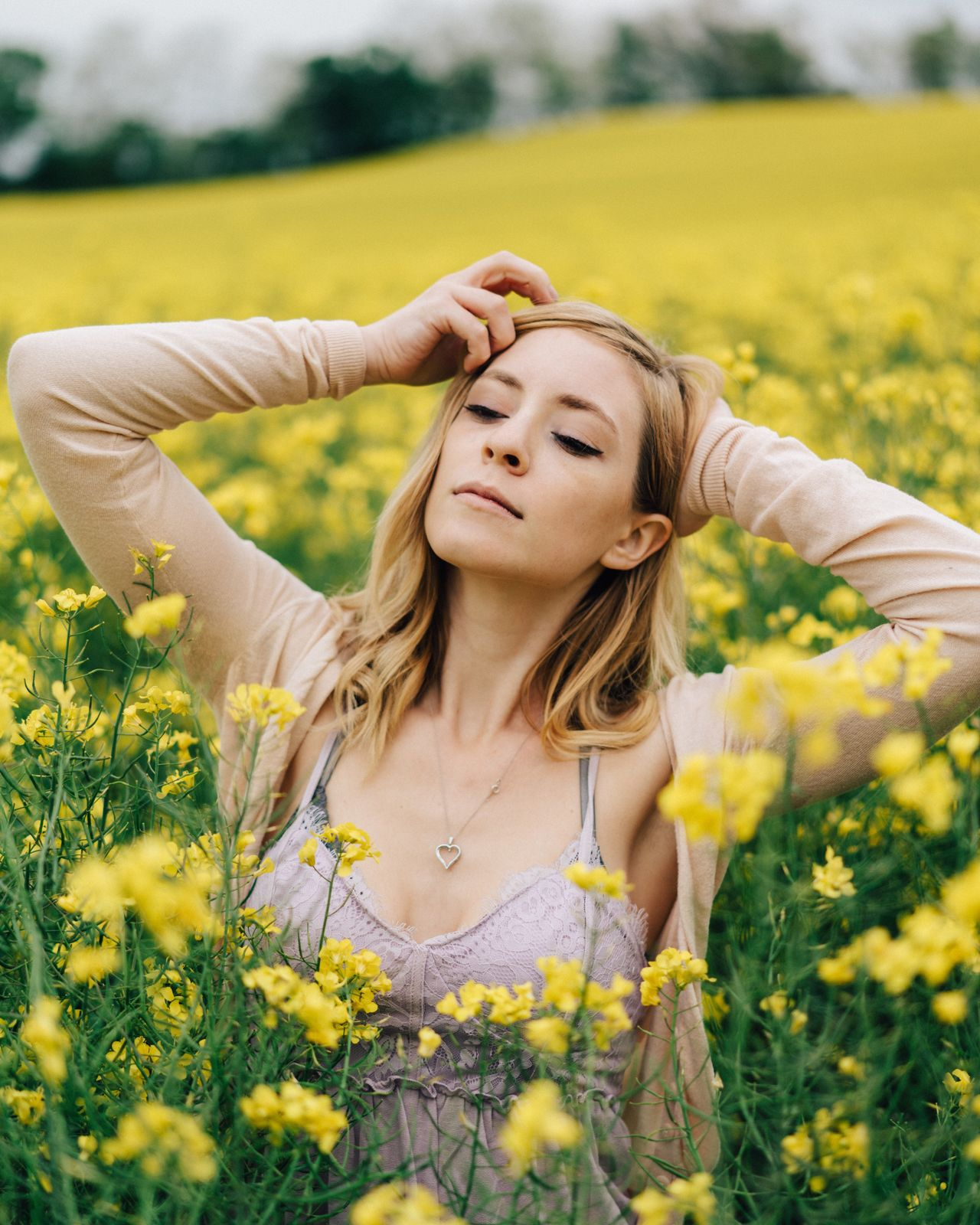 Flower Yellow One Person Eyes Closed  Young Women Beautiful Woman Nature Lifestyles Young Adult Women Real People Leisure Activity Outdoors Day Beauty Growth Beauty In Nature Plant Only Women Fragility The Great Outdoors - 2017 EyeEm Awards