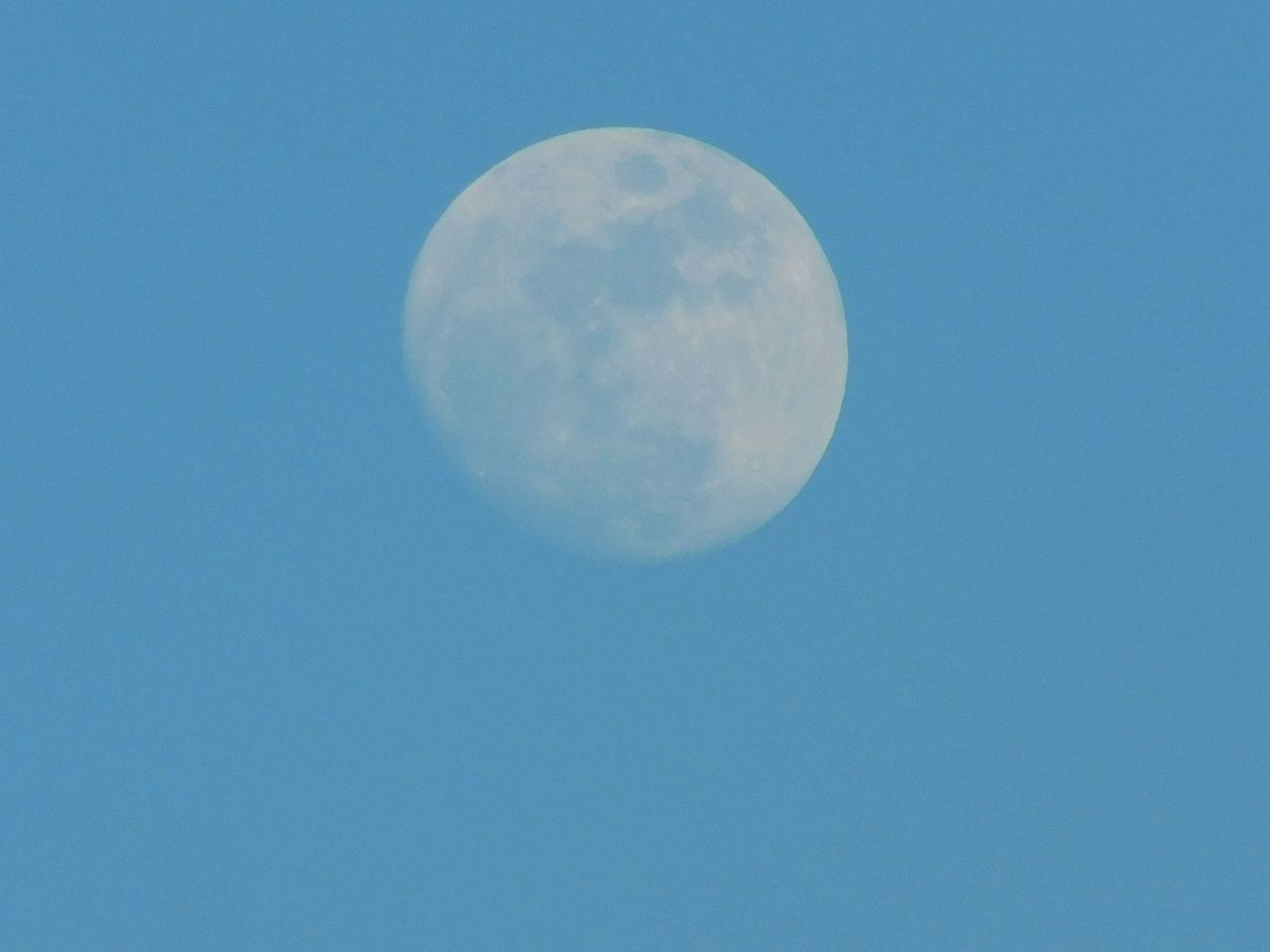 Blue Sky Clear Sky Moonrise My Favorite Color