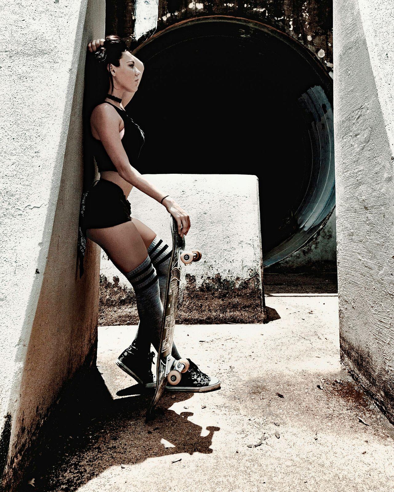 Sk8r. Model Skateboarding Skater Girl Urban Urbanstyle Streetstyle Beautiful Girl Modelstatus Badasschick