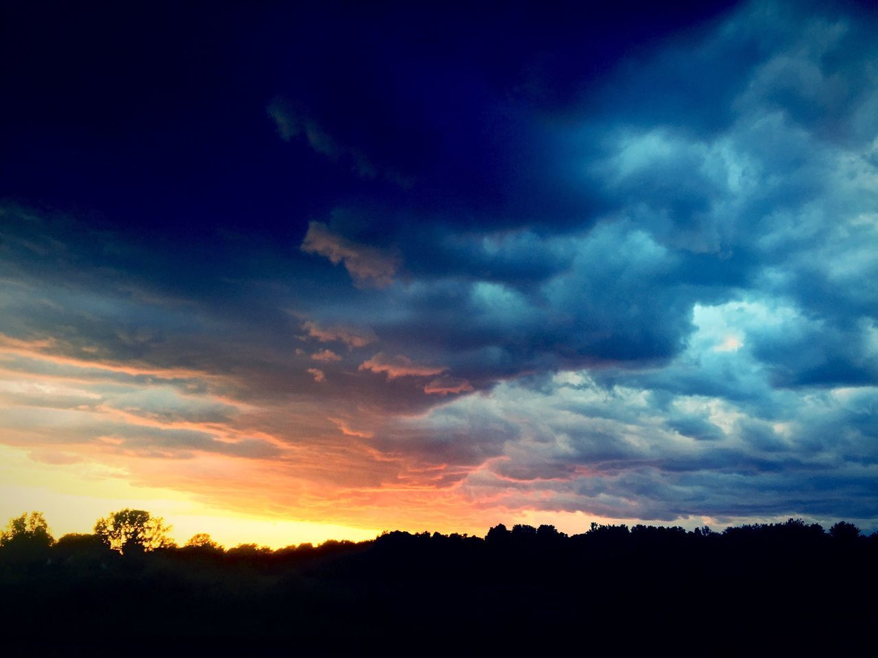 Beauty In Nature Cloud Cloud - Sky Cloudscape Cloudy Dark Dramatic Sky Idyllic Landscape Majestic Moody Sky Nature No People Non-urban Scene Orange Color Outdoors Outline Scenics Silhouette Sky Sunset Tranquil Scene Tranquility Tree Weather
