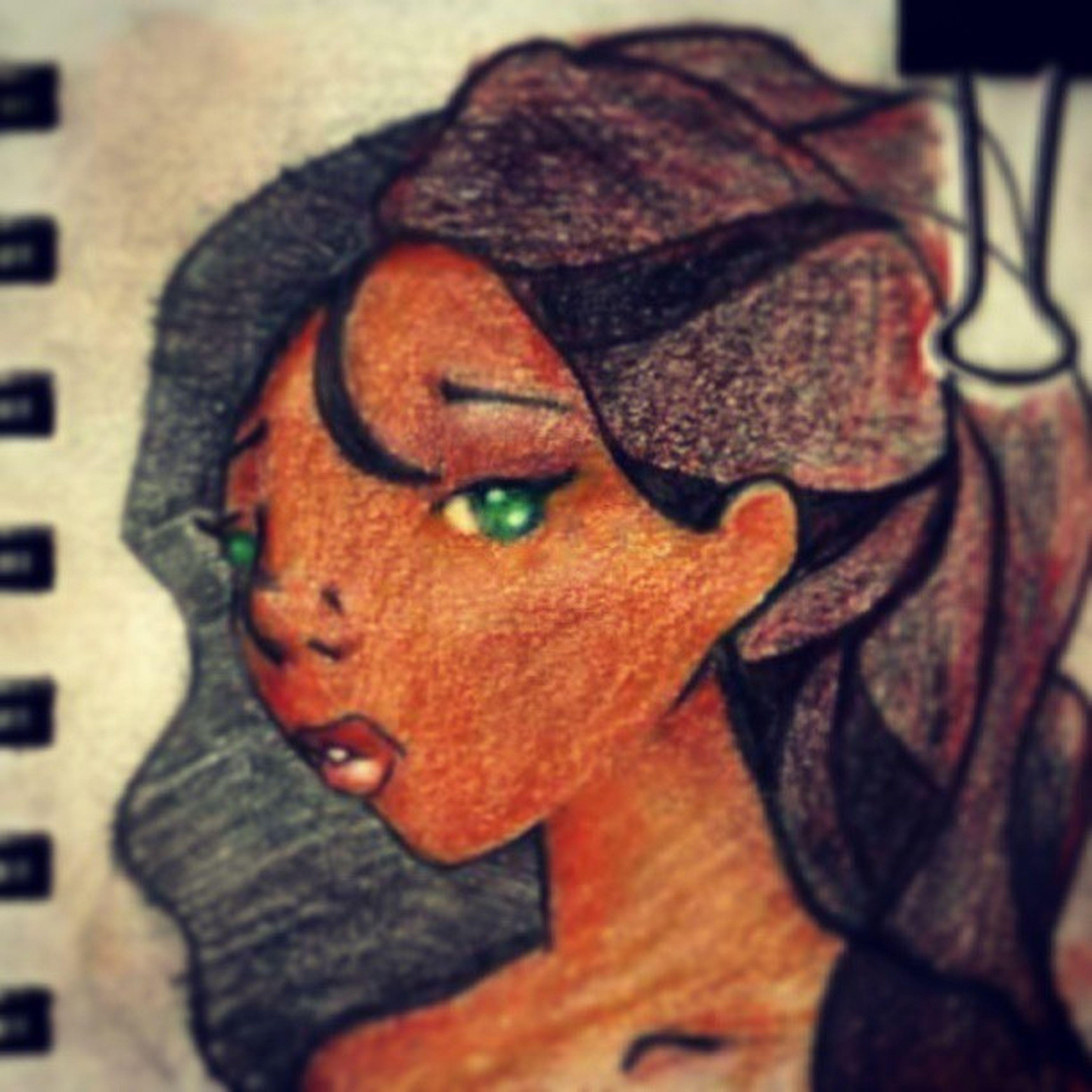 Green Eyes Almond Skin Art, Drawing, Creativity Bode Inspired