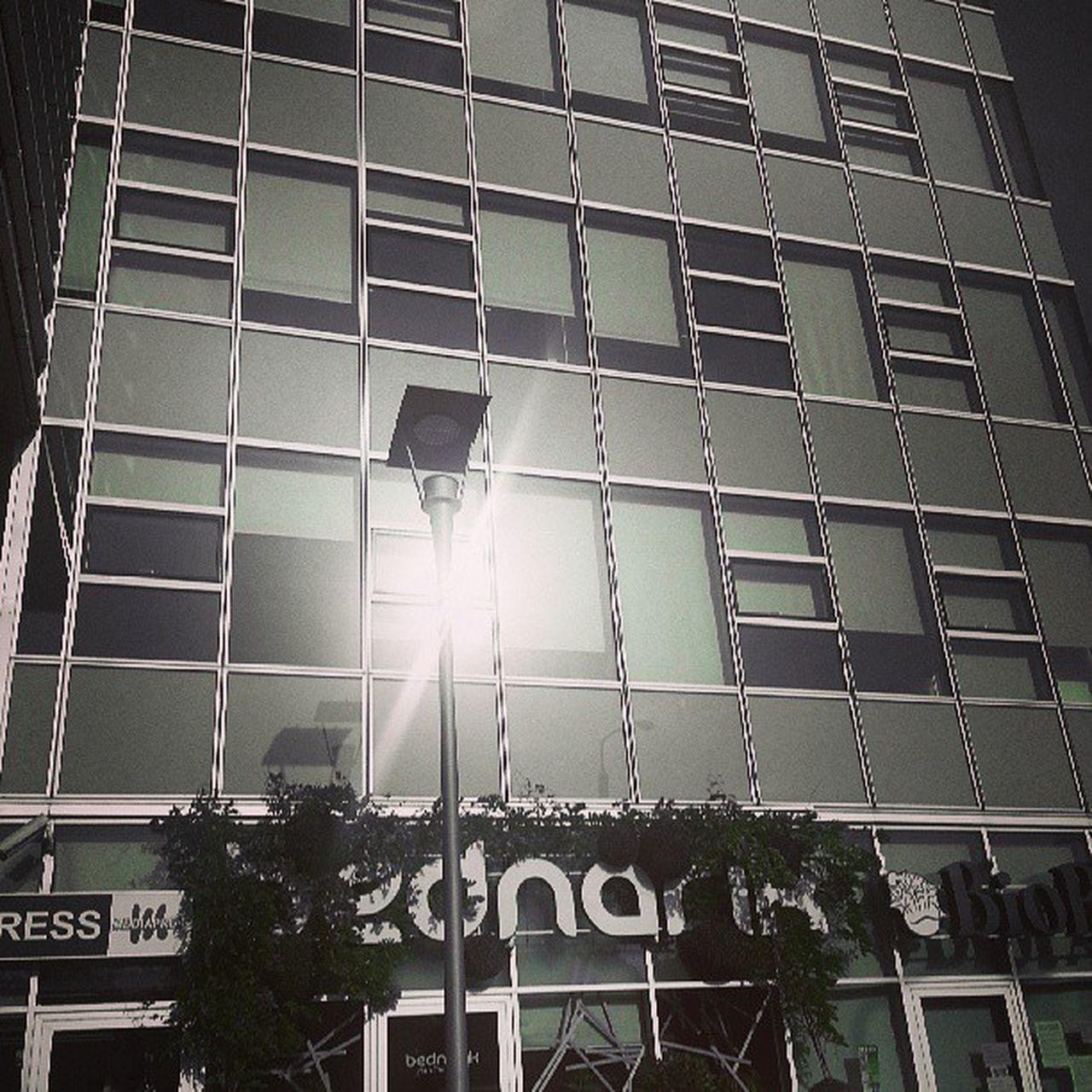 Sun Reflection on the Windows of CBC building in Bratislava Slovakia