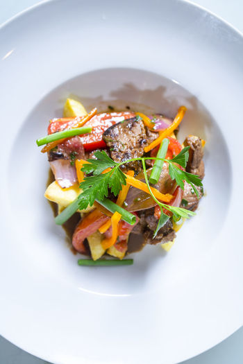Food And Drink Freshness Lomo Saltado Peruvian Food Food Fusion Food Meat Ready-to-eat