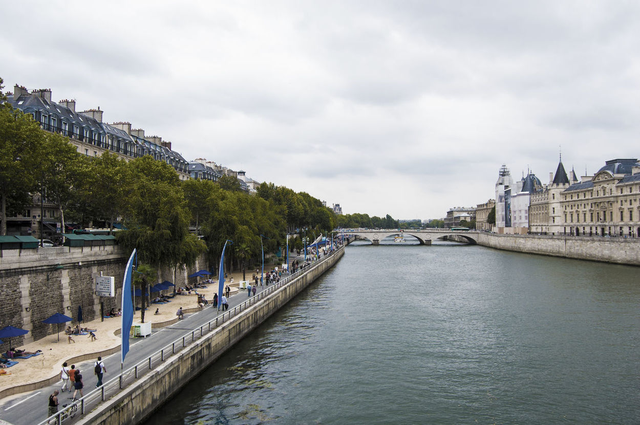 La Seine River Paris Summer Beach