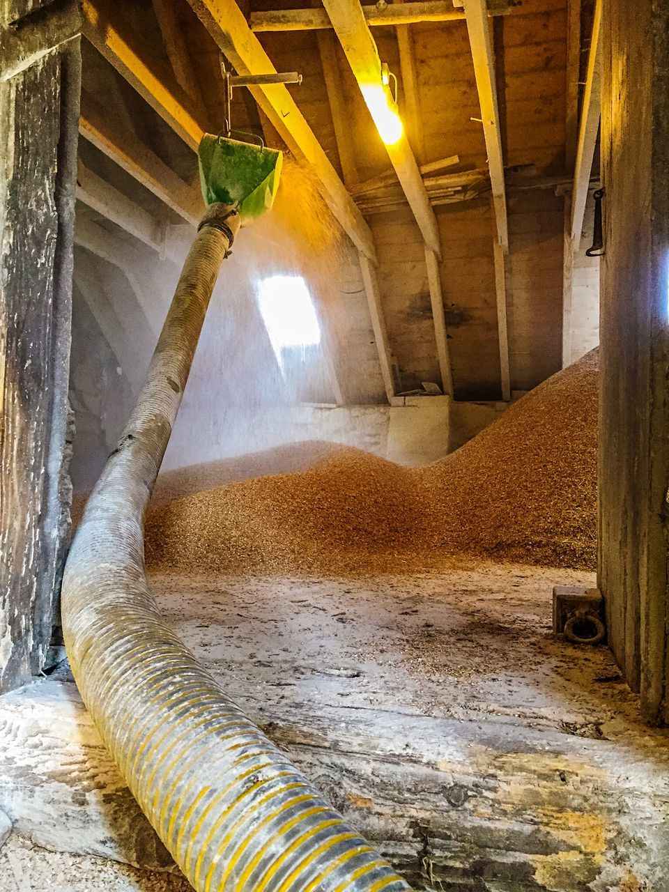 Sand Against The Wall With Large Pipe Indoors