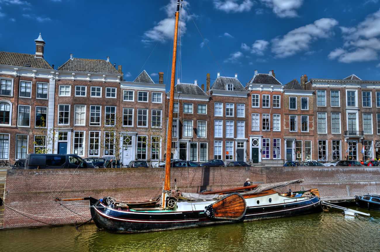 HDR Boats Sky Traveling Vacation Zeeland  Netherlands Water Colors