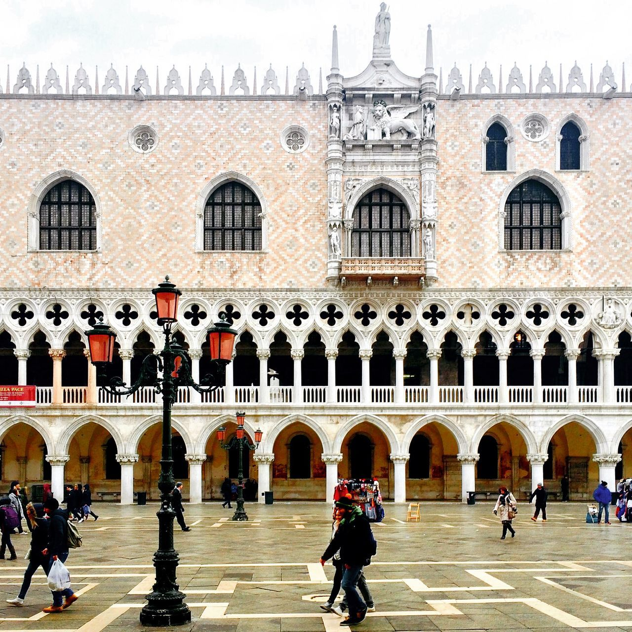 Italy Venice Venezia Architecture People Palazzo Ducale Ducale San Marco Building Sightseeing
