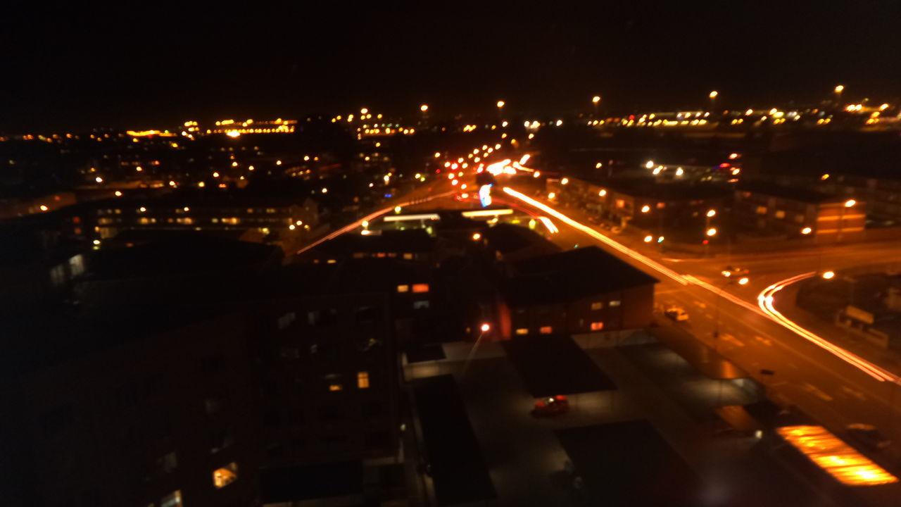 Light Trails City Lights City Evening Bustle
